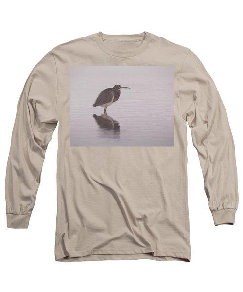 Evening Heron Long Sleeve T-Shirt