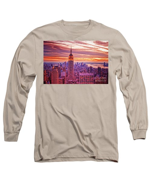Evening In New York City Long Sleeve T-Shirt