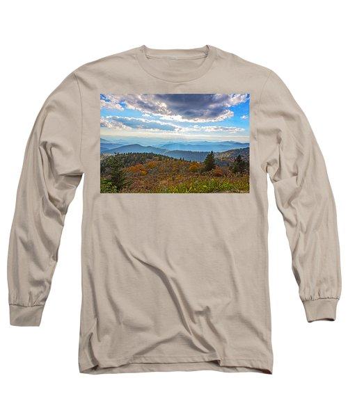 Evening On The Blue Ridge Parkway Long Sleeve T-Shirt by John Haldane
