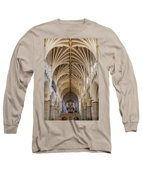 Exeter Cathedral And Organ Long Sleeve T-Shirt