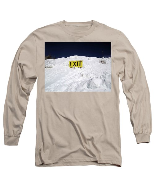 Exit Long Sleeve T-Shirt by Fiona Kennard