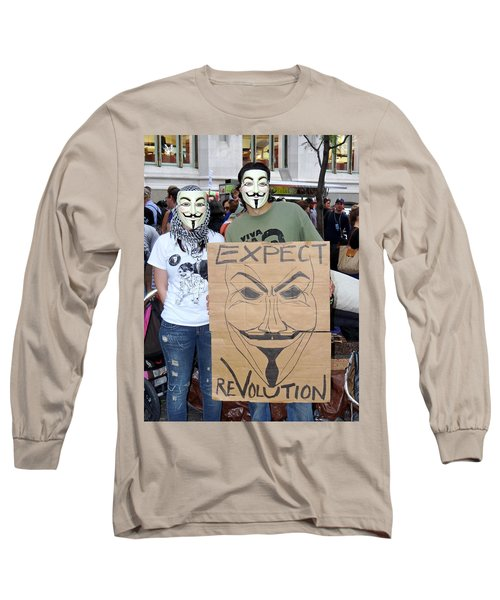 Long Sleeve T-Shirt featuring the photograph Expect Revolution by Ed Weidman