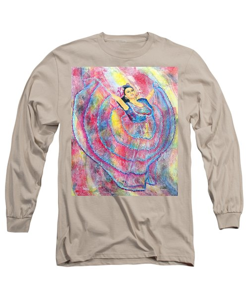 Long Sleeve T-Shirt featuring the painting Expressing Her Passion by Susan DeLain