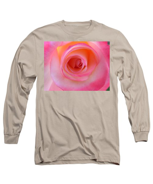 Long Sleeve T-Shirt featuring the photograph Eye Of The Rose by Deb Halloran