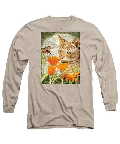 Long Sleeve T-Shirt featuring the painting Eye To Eye by Angela Davies