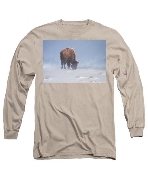 Long Sleeve T-Shirt featuring the photograph Faces The Blizzard by Jack Bell