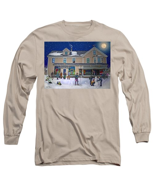 Faddens General Store In North Woodstock Nh Long Sleeve T-Shirt by Nancy Griswold