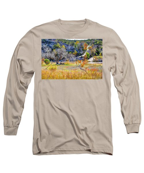 Fall In The Texas Hill Country Long Sleeve T-Shirt by Savannah Gibbs