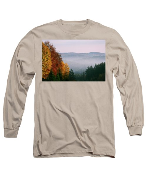 Fall Morning Long Sleeve T-Shirt by David Porteus