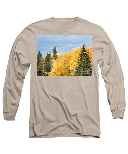 Long Sleeve T-Shirt featuring the photograph Fall Near Ya Ha Tinda by Ann E Robson