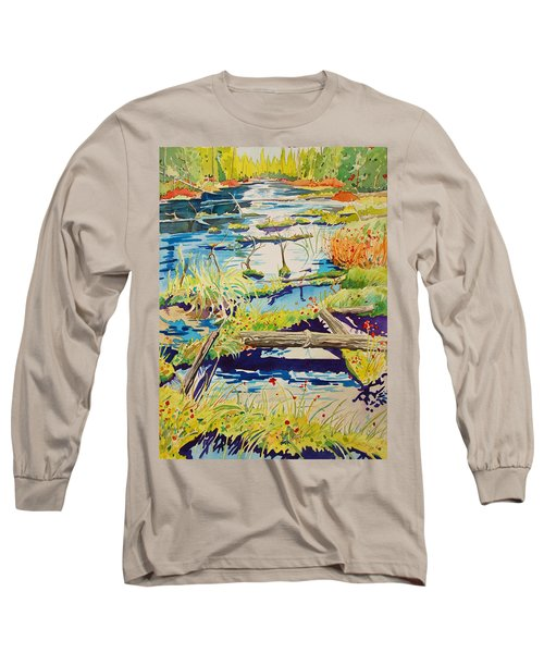 Fall River Scene Long Sleeve T-Shirt