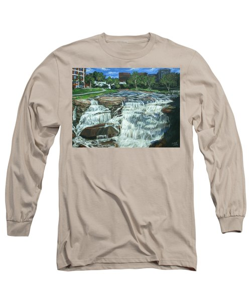 Long Sleeve T-Shirt featuring the painting Falls River Park by Bryan Bustard