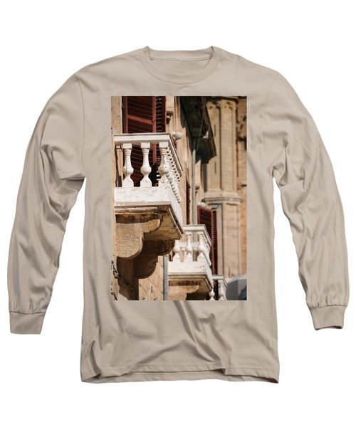 Famagusta Balconies Long Sleeve T-Shirt by Jeremy Voisey