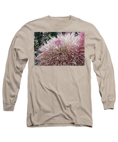 Long Sleeve T-Shirt featuring the photograph Fantasy Dahlia by Denyse Duhaime