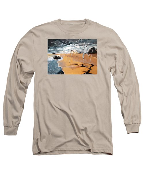 Long Sleeve T-Shirt featuring the painting Faraway Lejanias by Lazaro Hurtado