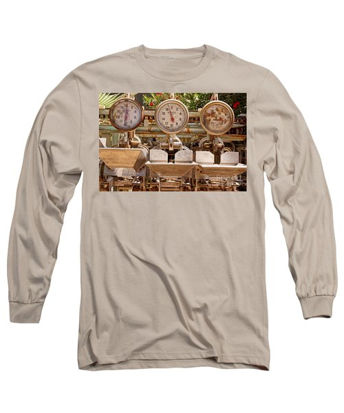 Long Sleeve T-Shirt featuring the photograph Farm Scales by Kerri Mortenson