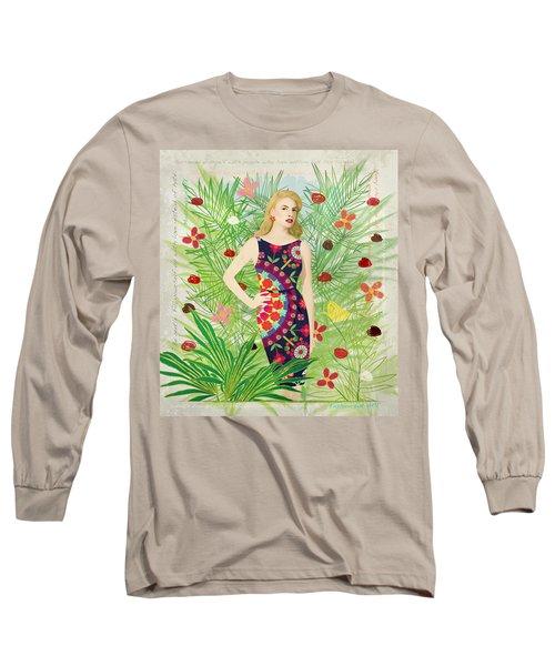 Fashion And Art - Limited Edition 1 Of 10 Long Sleeve T-Shirt by Gabriela Delgado