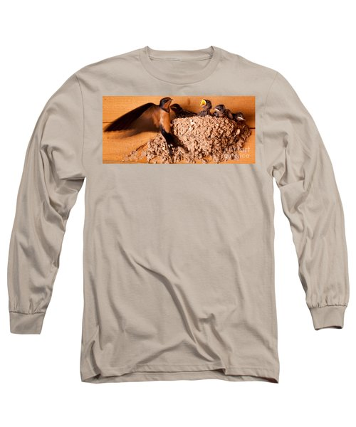 Long Sleeve T-Shirt featuring the photograph Feeding Time by Roselynne Broussard