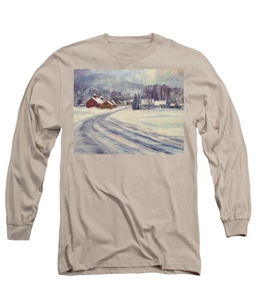 Felchville Village In The Snow Long Sleeve T-Shirt