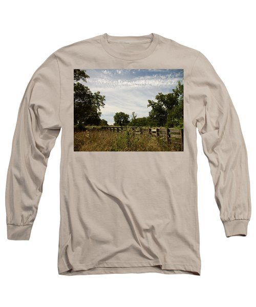 Fence 2 Long Sleeve T-Shirt by Cynthia Lassiter