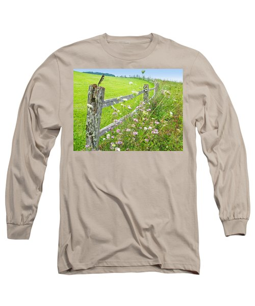 Fence Post Long Sleeve T-Shirt by Melinda Fawver