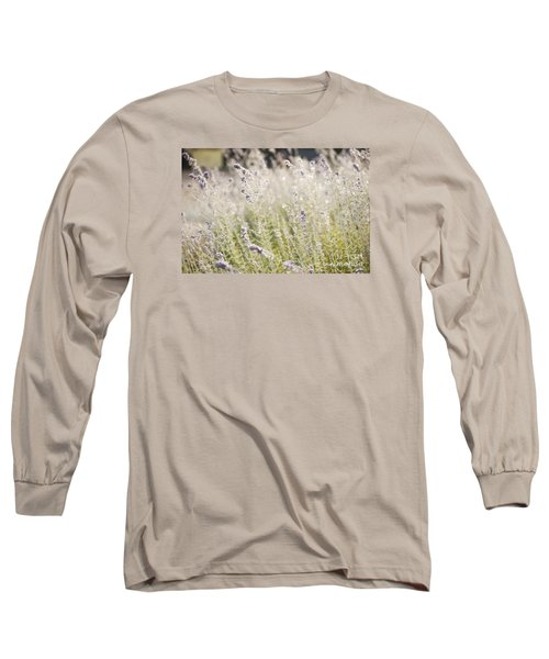 Long Sleeve T-Shirt featuring the photograph Field Of Lavender At Clos Lachance Vineyard In Morgan Hill Ca by Artist and Photographer Laura Wrede