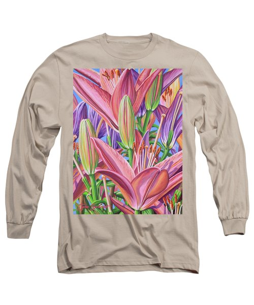 Field Of Lilies Long Sleeve T-Shirt