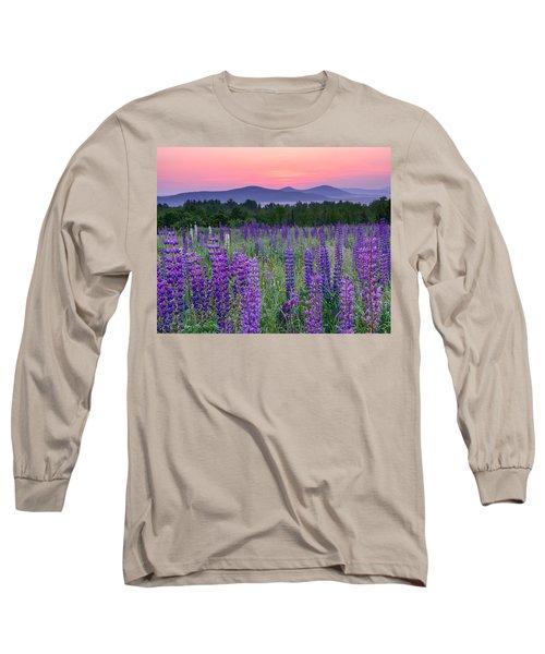 Field Of Purple Long Sleeve T-Shirt