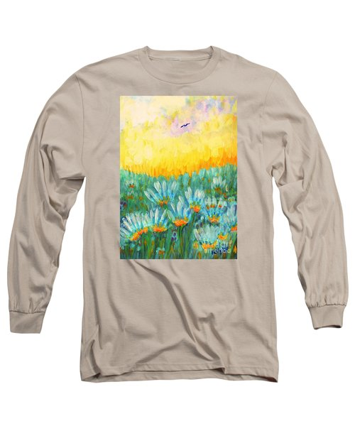Long Sleeve T-Shirt featuring the painting Firelight by Holly Carmichael