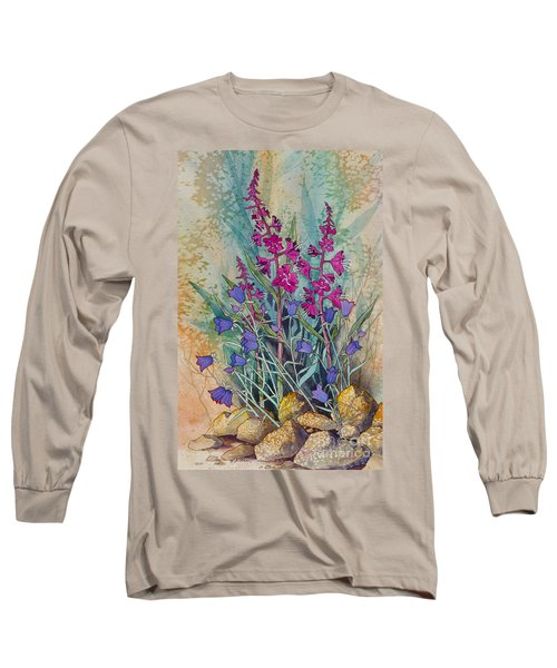 Fireweed And Bluebells Long Sleeve T-Shirt