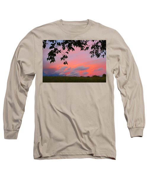 Long Sleeve T-Shirt featuring the photograph First October Sunset by Kathryn Meyer