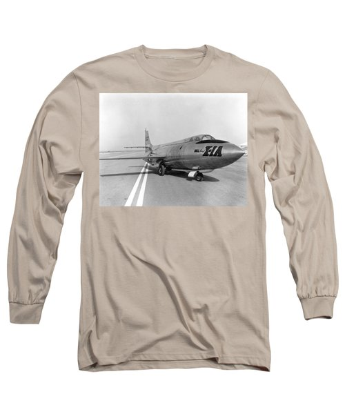 Long Sleeve T-Shirt featuring the photograph First Supersonic Aircraft, Bell X-1 by Science Source