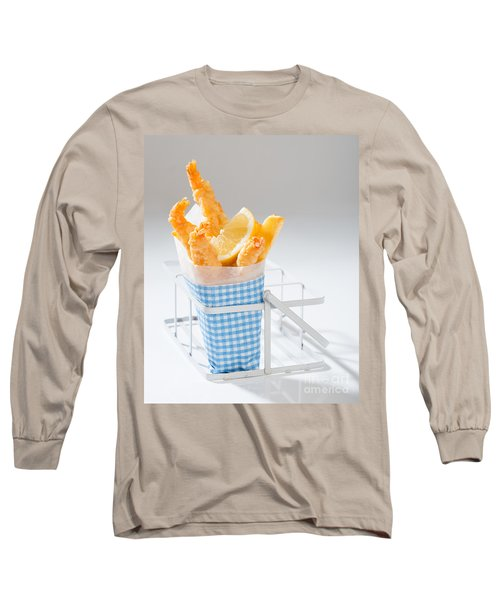 Fish And Chips Long Sleeve T-Shirt by Amanda Elwell