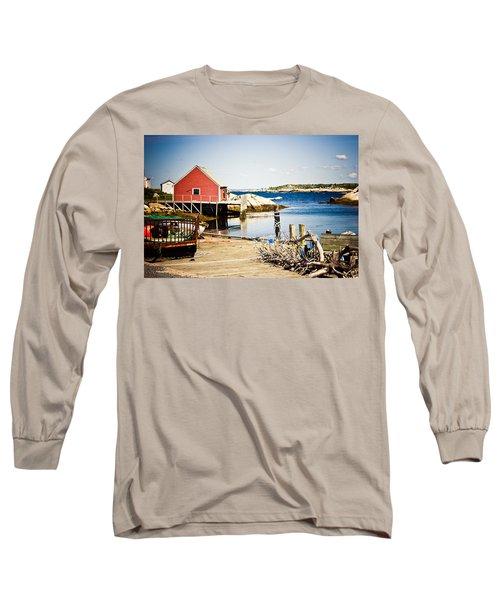 Fisherman's Cove Long Sleeve T-Shirt by Sara Frank
