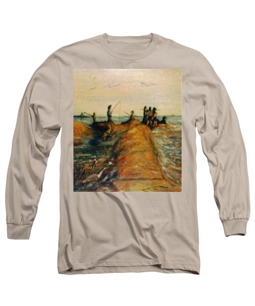 Fishing Near New Haven Long Sleeve T-Shirt