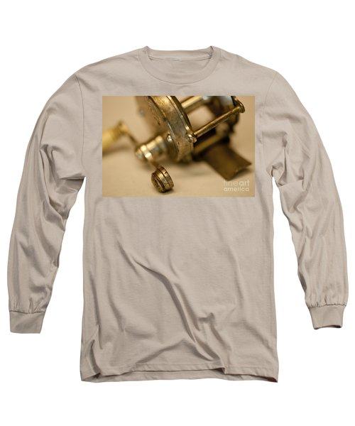 Fishing Reel  Long Sleeve T-Shirt by Wilma  Birdwell