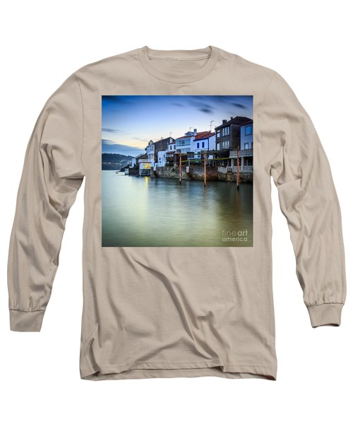 Fishing Town Of Redes Galicia Spain Long Sleeve T-Shirt by Pablo Avanzini