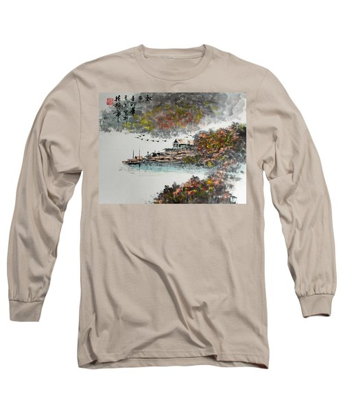 Long Sleeve T-Shirt featuring the photograph Fishing Village In Autumn by Yufeng Wang