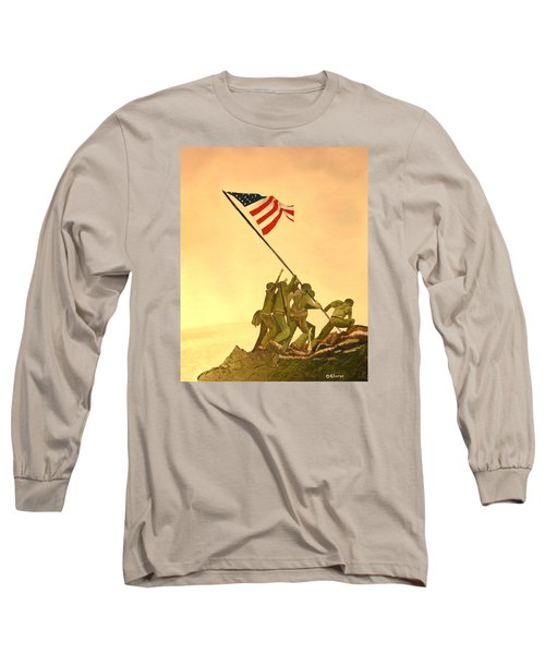 Flag Raising At Iwo Jima Long Sleeve T-Shirt
