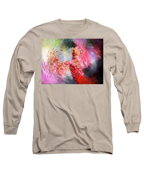 Flamencoscape 13 Long Sleeve T-Shirt by Miki De Goodaboom