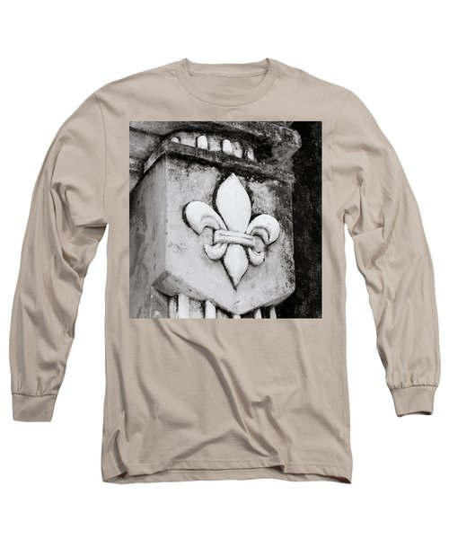 Fleur De Lys Long Sleeve T-Shirt by Shaun Higson