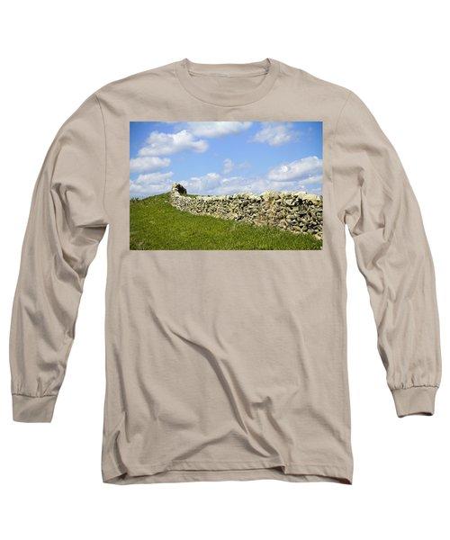 Long Sleeve T-Shirt featuring the photograph Flint Hills Rock Fence by Steven Bateson