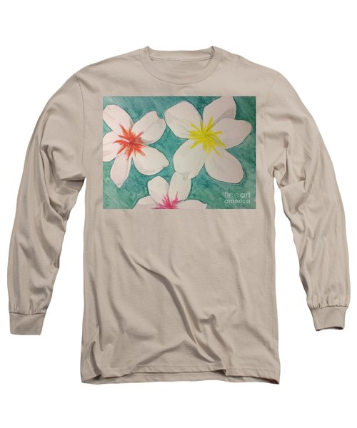 Floating Plumeria Long Sleeve T-Shirt