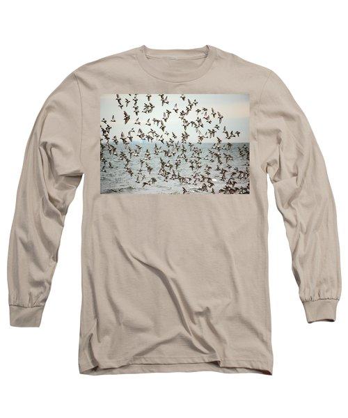 Flock Of Dunlin Long Sleeve T-Shirt