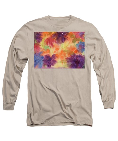 Floral Fantasy Long Sleeve T-Shirt by Ellen Levinson
