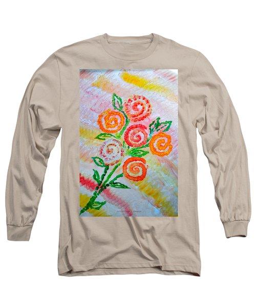 Floralen Traum Long Sleeve T-Shirt by Sonali Gangane