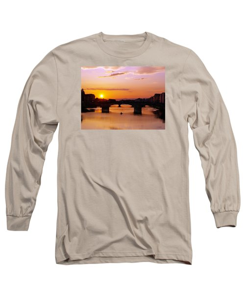 Long Sleeve T-Shirt featuring the photograph Florence Sunset  by Haleh Mahbod