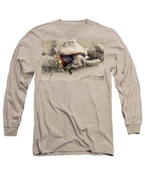 Long Sleeve T-Shirt featuring the photograph Florida Fighting Conch by Meg Rousher