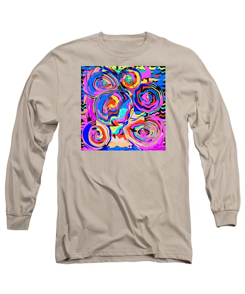 Abstract Art Painting #2 Long Sleeve T-Shirt by RjFxx at beautifullart com
