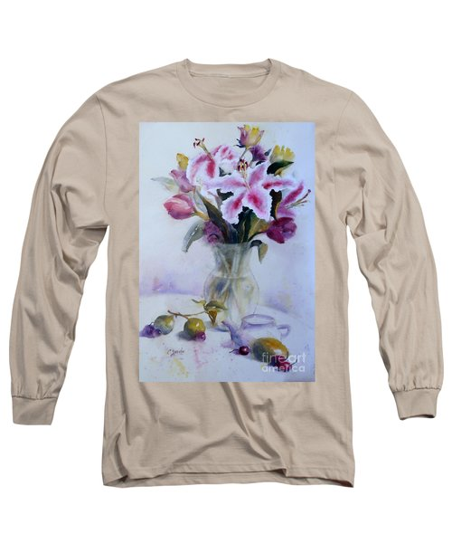 Flower Bouquet With Teapot And Fruit Long Sleeve T-Shirt